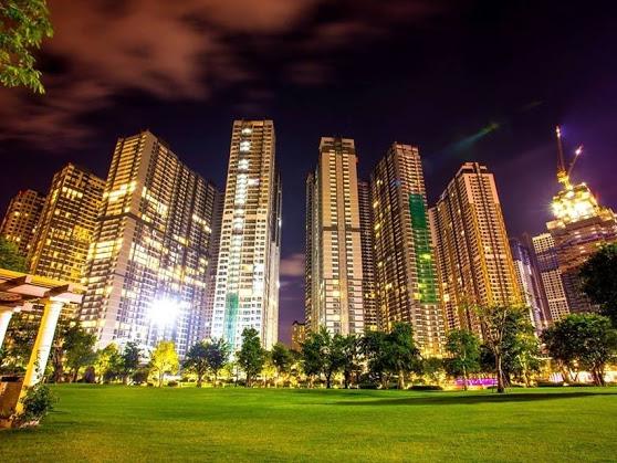 công viên nội khu cho thuê căn hộ Vinhomes quận Bình Thạnh