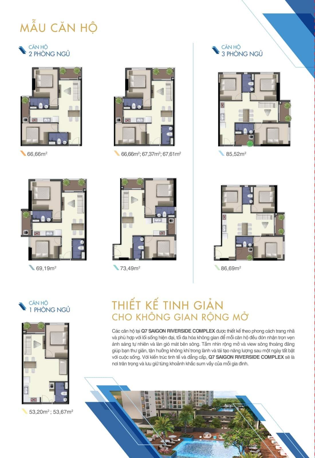 Thiết kế căn hộ Q7 Saigon Riverside Complex