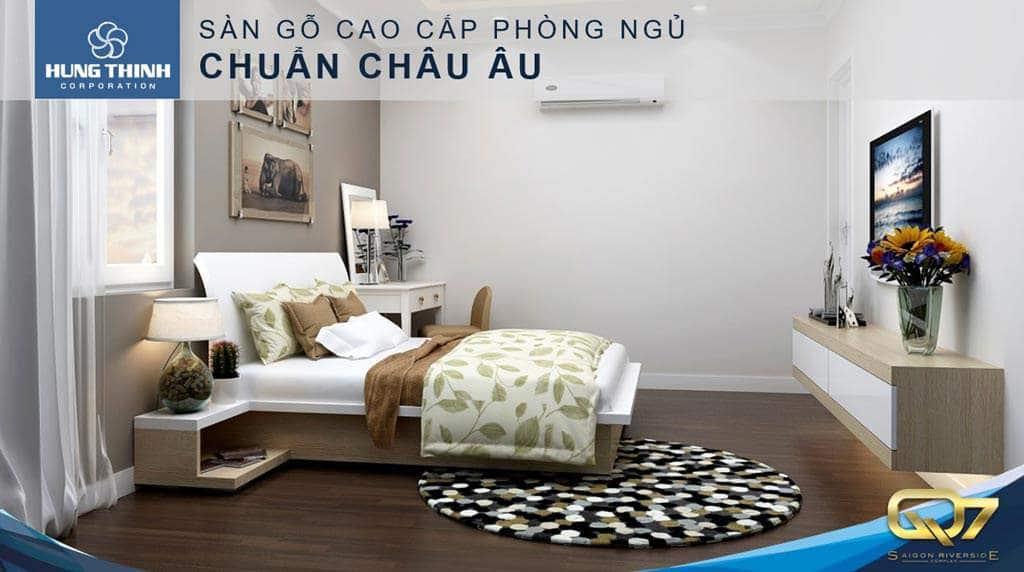 Giao sàn gỗ phòng ngủ đạt chuẩn châu âu Q7