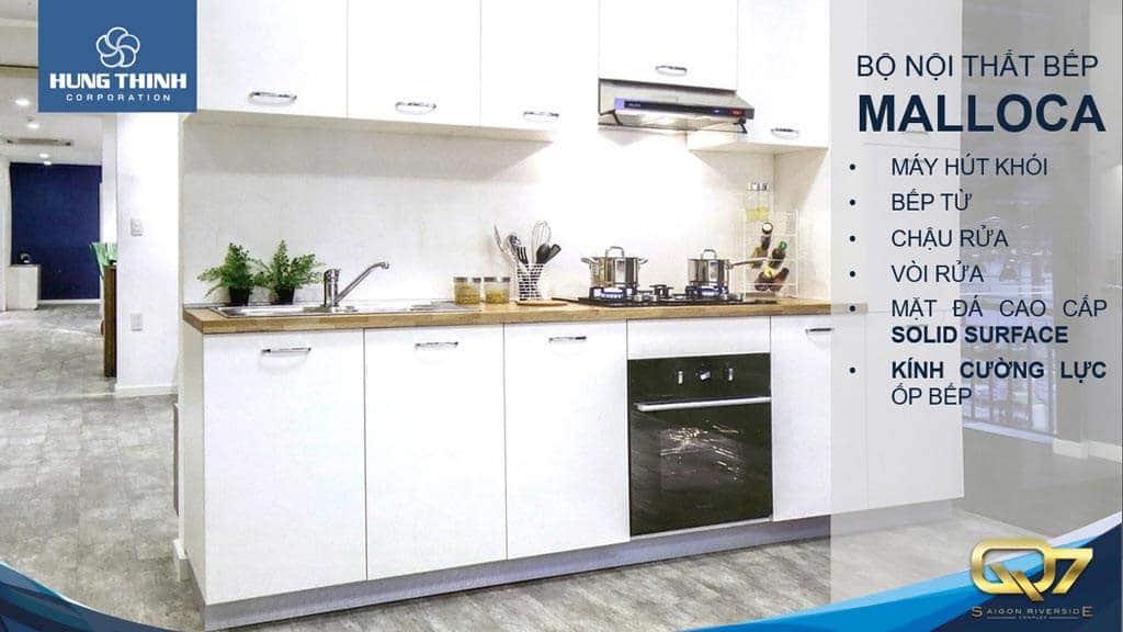 Q7 Complex giao full nội thất nhà bếp Meloca