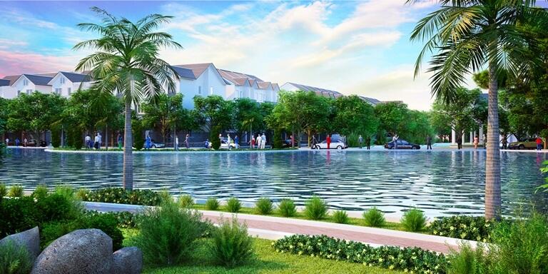 Hồ cảnh quan trong dự án La Residence