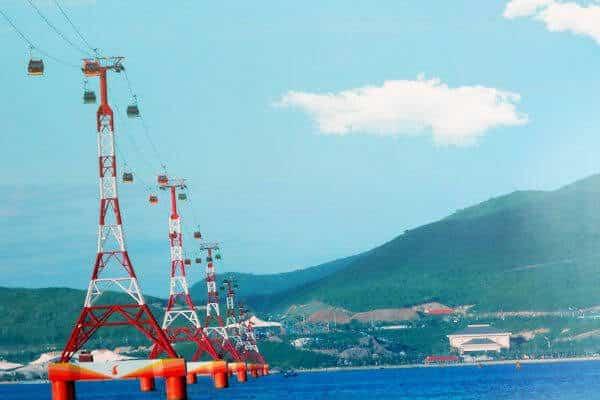 Hệ thống cáp treo tới Hải Giang Merry