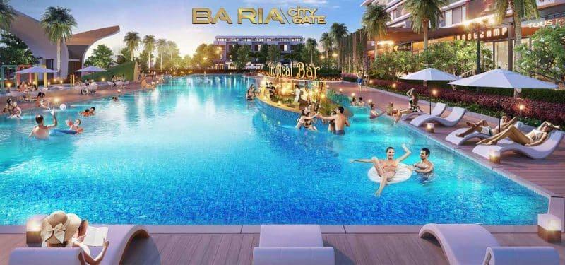 Hồ bơi cao cấp dự án baria city gate