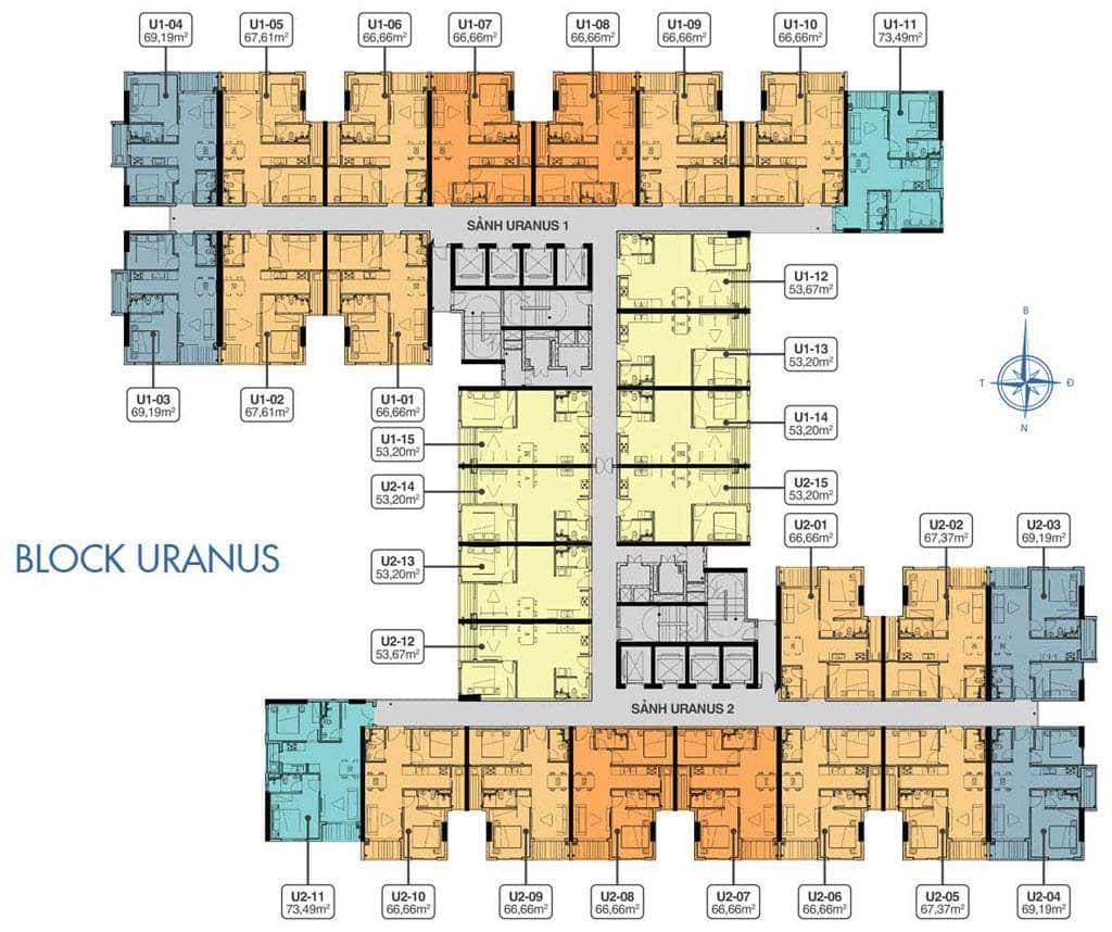 Mặt Bằng Block URANUS