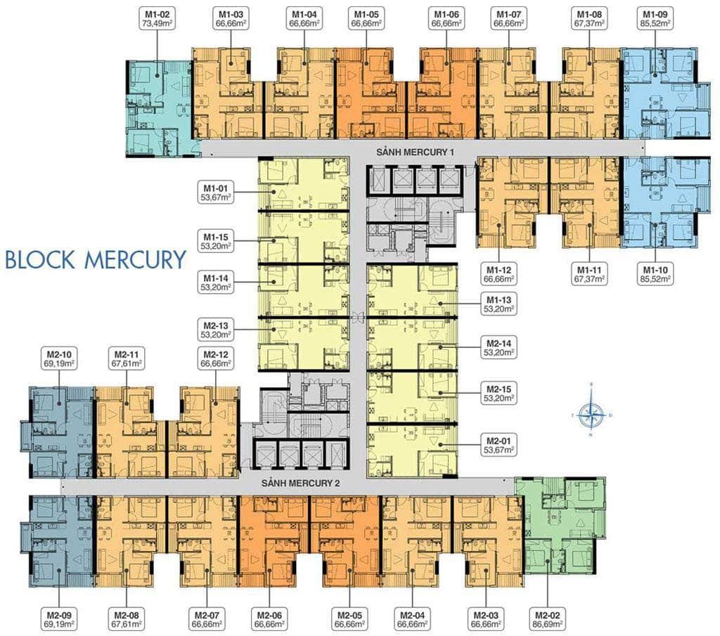Mặt bằng block MERCURY