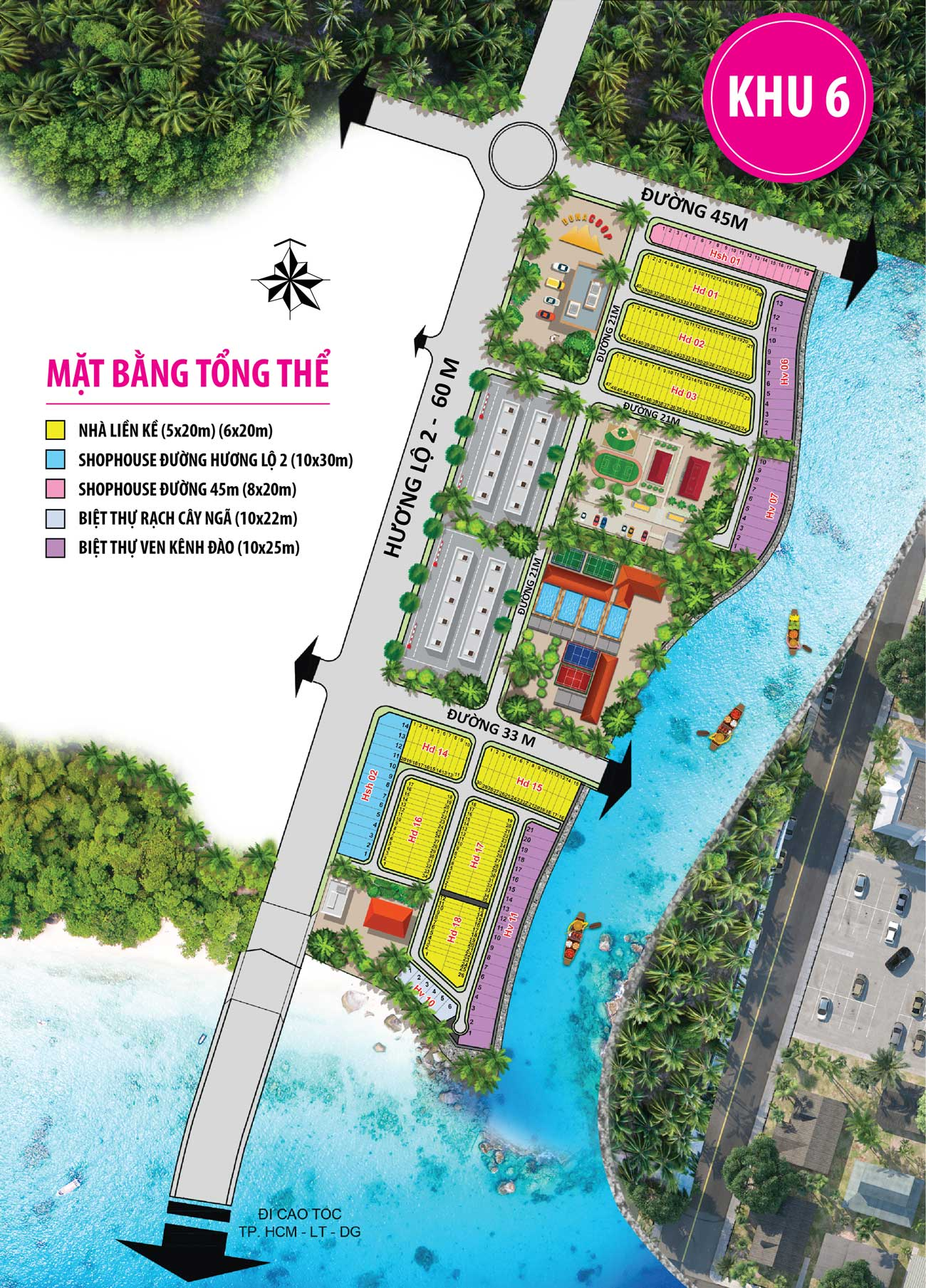 khu 6 - Dự án Đất Nền Sân Golf Long Thành
