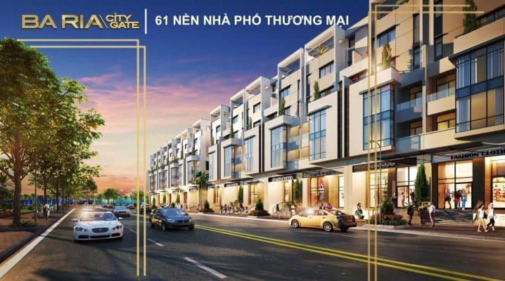 Nhà phố dự án khu 3 ba ria city gate