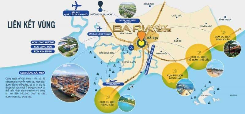 Tiện ích liên kết vùng dự án ba ria city gate