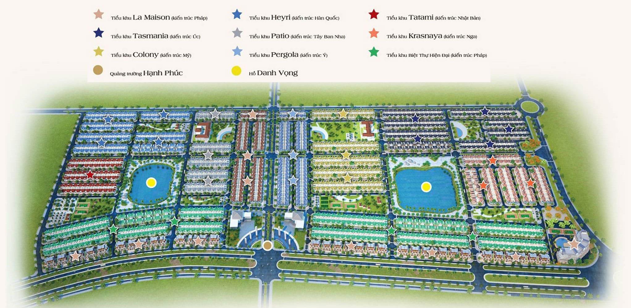 Kiến trúc thiết kế và vị trí các tiểu khu tại dự án Golden Bay Cam Ranh