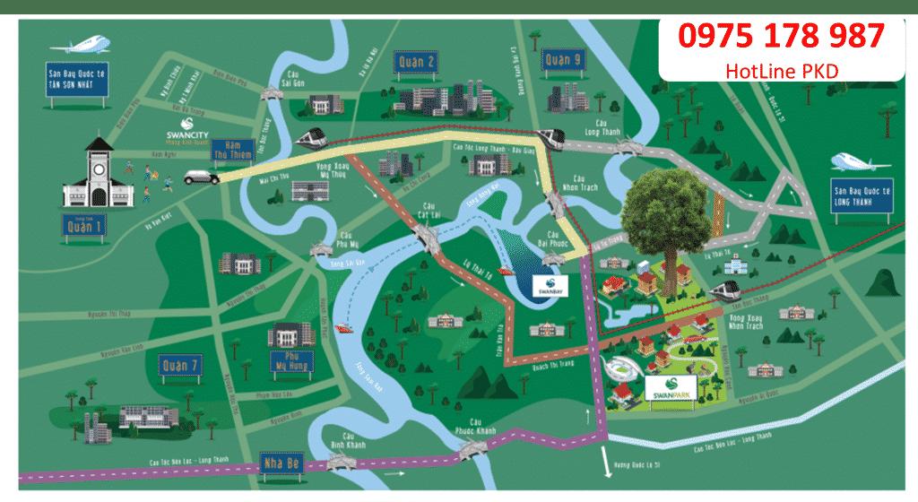 vị trí dự án Phước Thiền