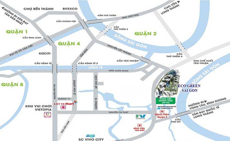 Vị trí Eco Green Saigon
