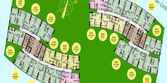 Mặt bằng Eco Green Saigon