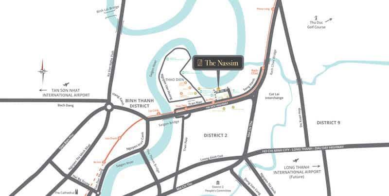 vị trí Nassim Thảo Điền