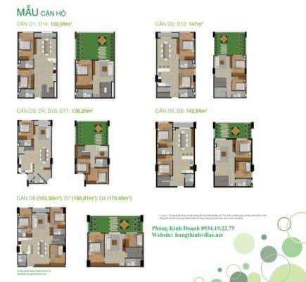 Mẫu căn hộ Duplex dự án Citizen