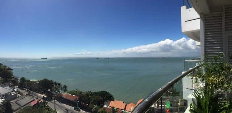 View từ ban công căn hộ thi sách Vũng Tàu - Hưng Thịnh