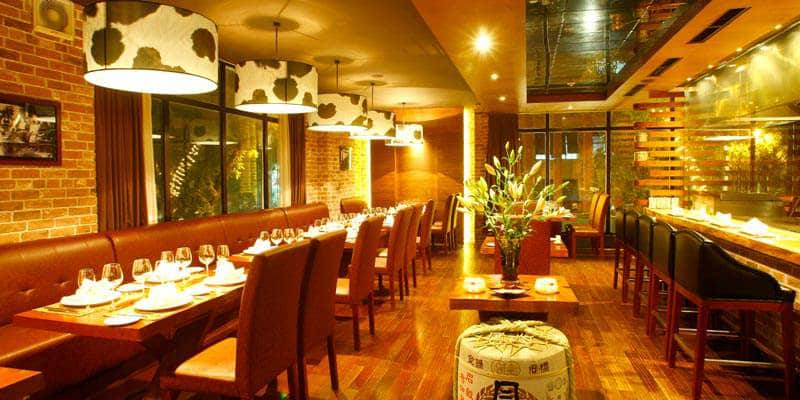 Khu nhà hàng sang trọng và hiện đại