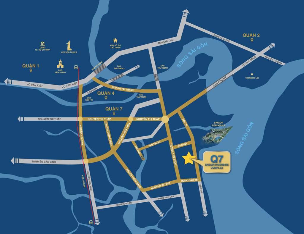 Vị Trí Q7 Sài Gòn Riverside