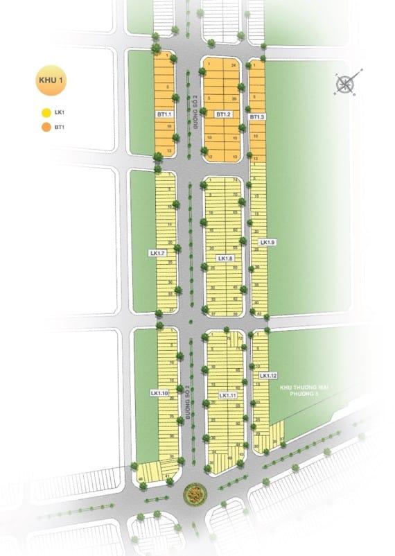 Mặt bằng dự án Vĩnh Long New Town